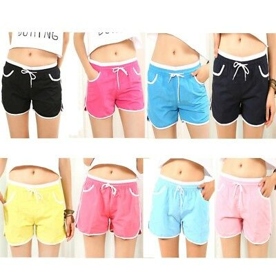 New Women Sports Shorts Casual Ladies Beach Summer Running Gym Yoga Hot Pants UK