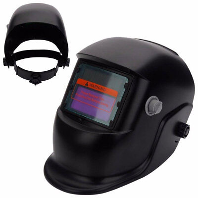 Black Solar Powered Auto-Darkening Welding Helmet Grinding TIG Welder Mask