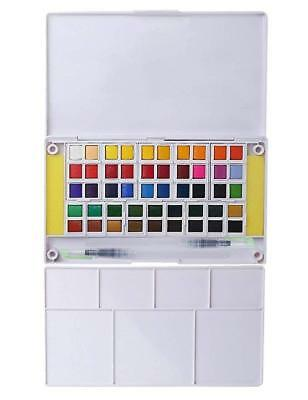 Watercolor Paint Set, 48 Assorted Watercolors, Perfect Watercolor Pan Set NEW