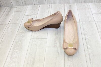766f0107105 COLE HAAN TALI Grand Bow Wedge Pump Ocelot Haircalf W00968 New with ...