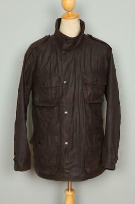 Mens BARBOUR Trooper WAXED Jacket Olive Size Large