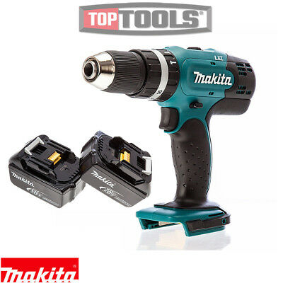 Makita DHP453Z 18V 13mm 2 Speed LXT Combi Drill Body With 2 x 5Ah Batteries