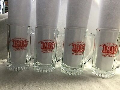 "America's Original Brewery Made ""1919"" 12 ounce Draft Root Beer Mugs"