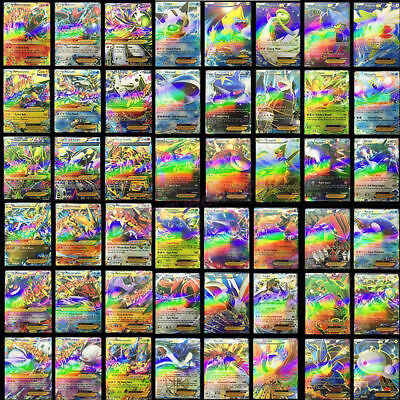 Newest 100 LOT RARE CARD NO REPEAT 20 MEGA FLASH Holo CARDS+80 EX Pokemon CARDS