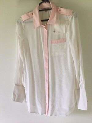 Ted Baker shirt Cream with pink detail