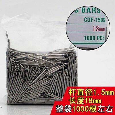 1000pc Stainless Steel Watch Band Spring Bar Removal Tool 8mm-25mm Pin 1.5mm Dia