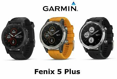 Garmin Fenix 5 Plus Sapphire Multisport Smartwatch Silver Black Band