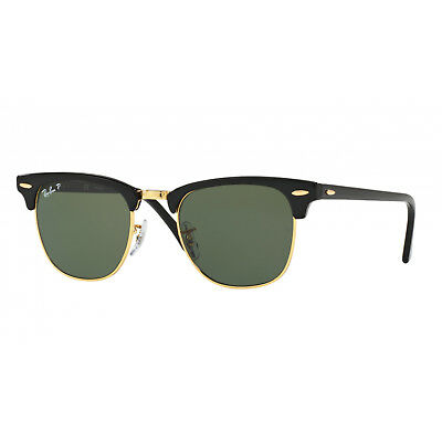 Ray-Ban Clubmaster Classic Green Polarized Sunglasses - RB3016 90158E 2d41c425c5