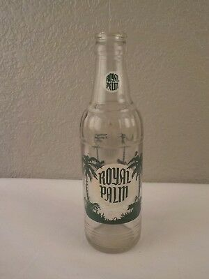Vintage Royal Palm 7oz Soda Bottle Coca-Cola Bottling Waterbury, CT