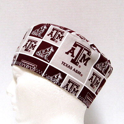 competitive price beeba 8d75d Texas A   M Mens Scrub Hat, Chemo Hat, Surgical Cap, Skull Cap