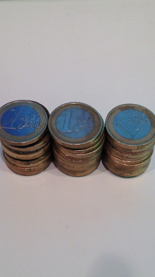 35€ in 1€ coins large euro coin lot currency circulated travel cash 1 5 10 20 50
