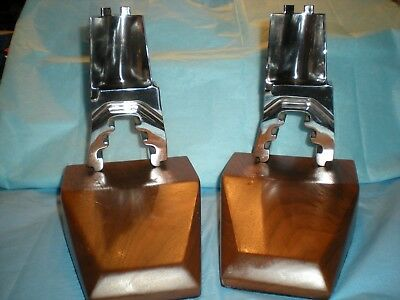 Mid Century Modern Industrial Book Ends