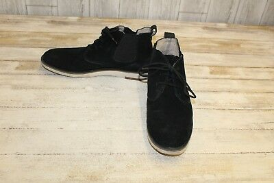 687ae4fa1c7 JOHN VARVATOS MEN'S Distressed Black Suede Chukka Ankle Boots Made ...