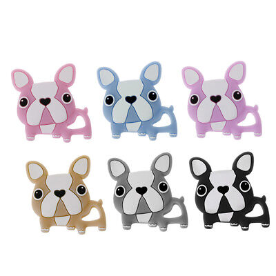 DIY Nursing Pendant Teething Necklace Silicone Dog Charms Baby Teether Toys 1PC