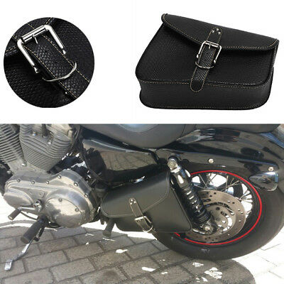 Neverland PU Leather Right Side Saddle Bag For Harley Sportster Dyna Softail 1PC