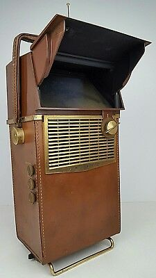 Vintage Philco Safari Portable Black & White Transistor Television Parts Repair