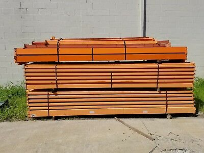 "Teardrop Beam 12' X 5"" pallet racking used 4,500 lb capacity"