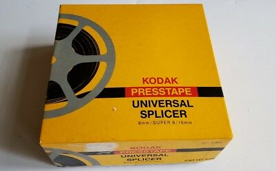 Kodak Presstape Universal Splicer 8mm Super 8 16mm Film editor press tape Vtg