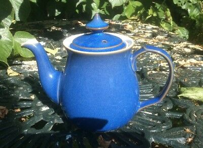 Denby Imperial Blue Two Pint Teapot Never Used