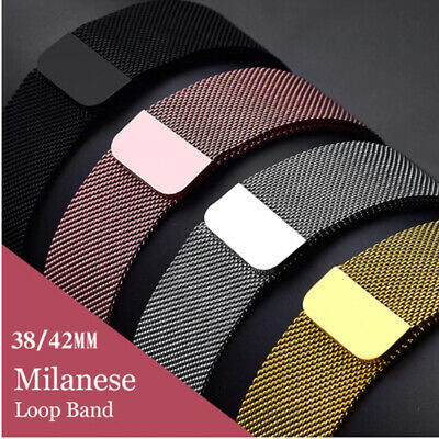 Milanese Magnetic Stainless Steel Strap iWatch Band For Apple Watch Series 4 3 2