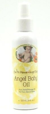 Earth Mama Angel Baby - Angel Baby Oil, 120 ml. (4 FL.OZ), EXP:11/12/2018