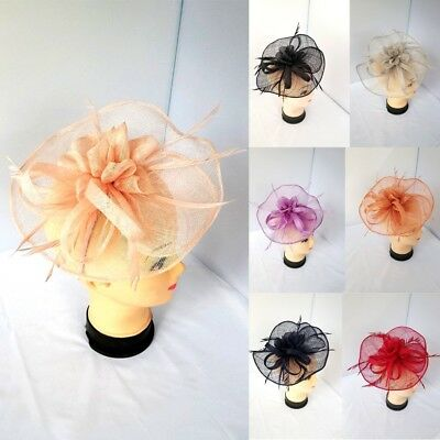 Ladies Large Headband and Clip Hat Fascinator Womens Weddings Day Royal Ascot