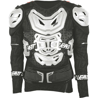 Leatt NEW Mx 5.5 White Chest Protector Roost Guard Motocross Body Armour Suit
