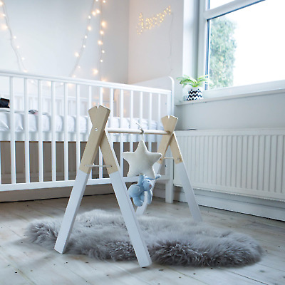 Handmade wooden baby gym activity centre nursery baby shower  baby gift