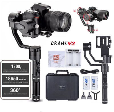 Free Tripod ZHIYUN Crane V2 3-Axis Handheld Stabilizer Gimbal Carry up to 3.96lb