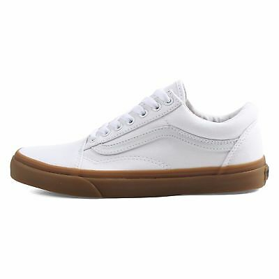 432495d11d42 NEW! MEN S VANS Old Skool skate SHOE Classic WHITE Canvas Gum SIZE ...