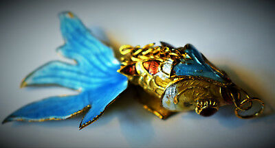 Vintage Ariculated Nice And Colorful Fish Pendant