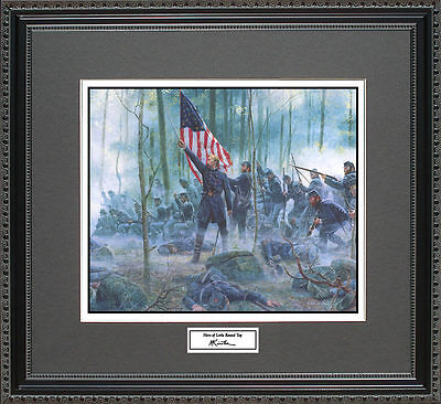 Mort Kunstler HERO OF LITTLE ROUND TOP Framed Print Civil War Wall Art Gift