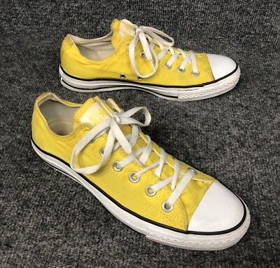 60e8f6852664 Converse All Star Low Top Adult Shoes Men s Size 7 Women s 9 Yellow Used