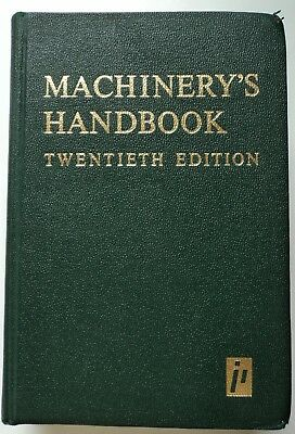 MACHINERY'S HANDBOOK Twentieth Edition 1975 1st Print Industrial Press Oberg HC