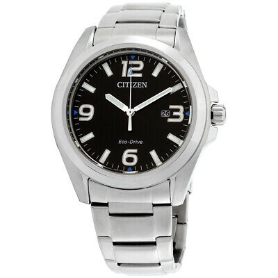 Citizen Eco-Drive Black Dial Stainless Steel Men's Watch AW1430-86E