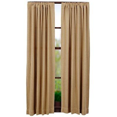 2PC Burlap Natural Cotton Window Panels Multiple Sizes Separate Matched Valance