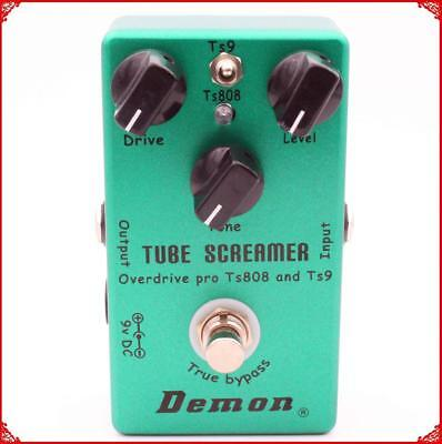Tube Screamer 2 in 1 Guitar Overdrive Pedal - Models the Ibanez TS808 TS9