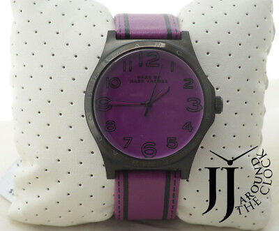 05e27105d NEW MARC by MARC JACOBS Oversized Henry Purple Trompe Leather Watch MBM1232