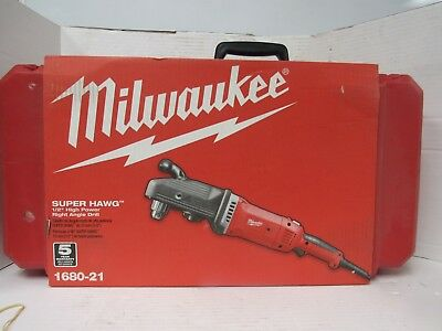 Milwaukee 1680-20 Super Hawg Heavy Duty Corded Drill - Right Angle [23F]