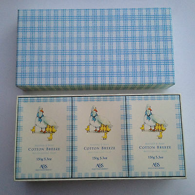 Set of 3 Asquith & Somerset Mother & Baby Cotton Breeze Moisturising Soaps