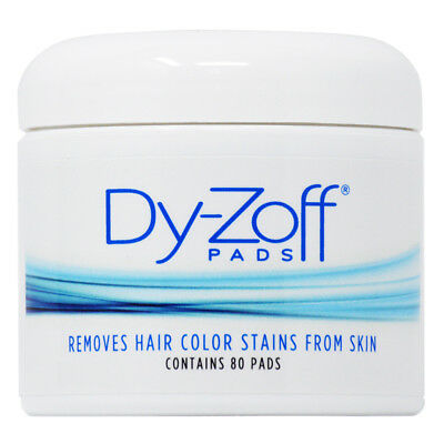 King Research Dy-Zoff Removes Hair Color Stains From Skin 80 Pads w/Nail File