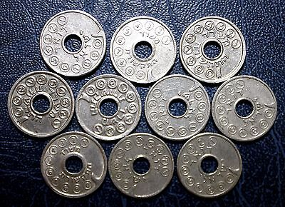 Lot of 10  different Israel old RARE asimon Telephone Token  #89F91