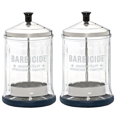 "King Research Barbicide Disinfecting Jar Midsize ""Pack of 2"" w/Free Nail File"