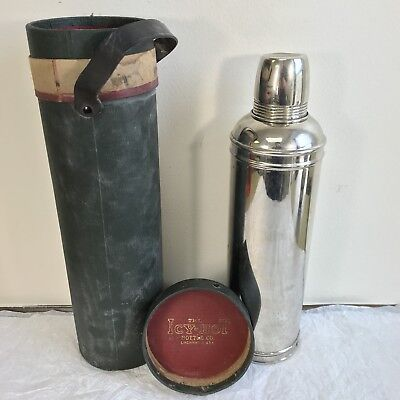 Rare c.1911 Antique Thermos Bottle in Icy Hot Bottle Co. Canister
