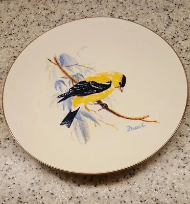 AMERICAN GOLDFINCH Bird Collector Plate 1986 NATIONAL WILDLIFE FEDERATION