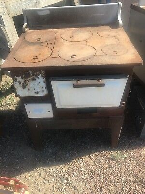 Antique Brown Stove Works Wood Burning Kitchen Cook Stove