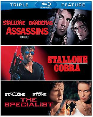 Sylvester Stallone Triple Feature: Assassins/Cobra/The Specialist Blu-Ray NEW