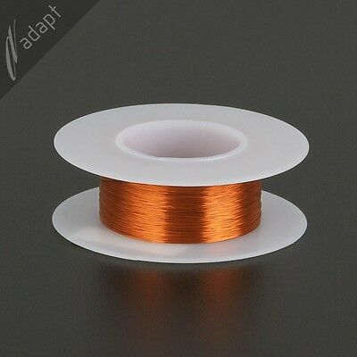 34 AWG Gauge Magnet Wire Natural 494' 200C Enameled Copper Coil Winding