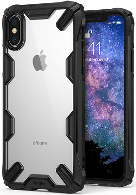 For iPhone X Ringke [FUSION-X] Shockproof Clear PC Back Armor Bumper Case Cover