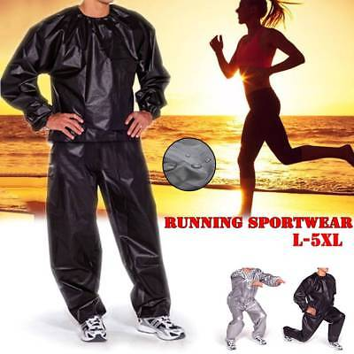Women Men Heavy Duty Sweat Sauna Suit Gym Fitness Exercise Fat Burn Weight Loss